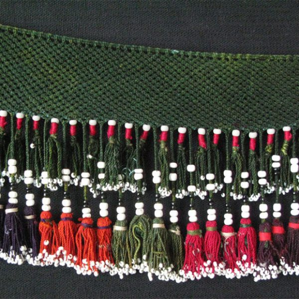 North Afghanistan Lakai silk – glass bead tassel
