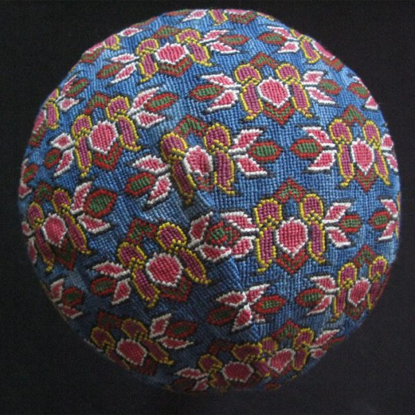 Uzbekistan Shehrisebz iroqi cross stitch fine silk embroidery hat