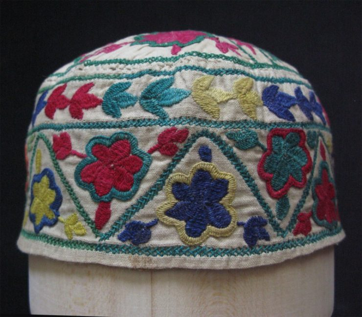 Afghanistan - Laqay girls hat, silk embroidery on cotton