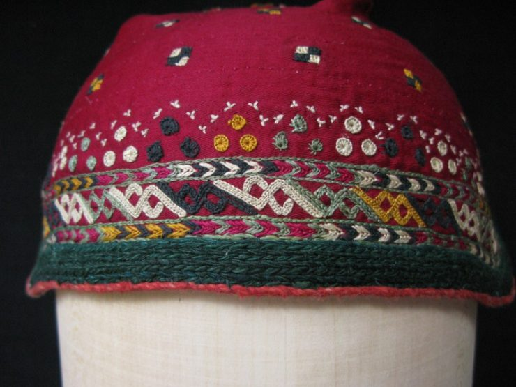 Turkmen Chodor baby hat from North Afghanistan