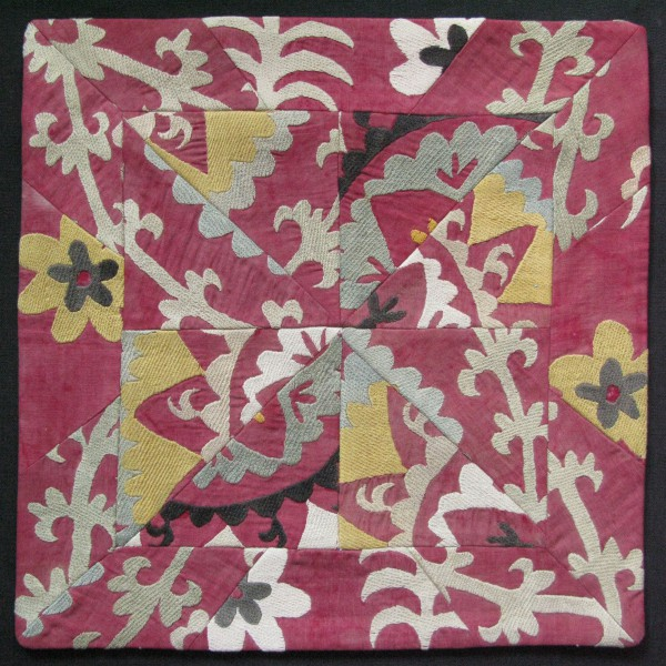 Tajikistan Handmade old suzani Pillow cover