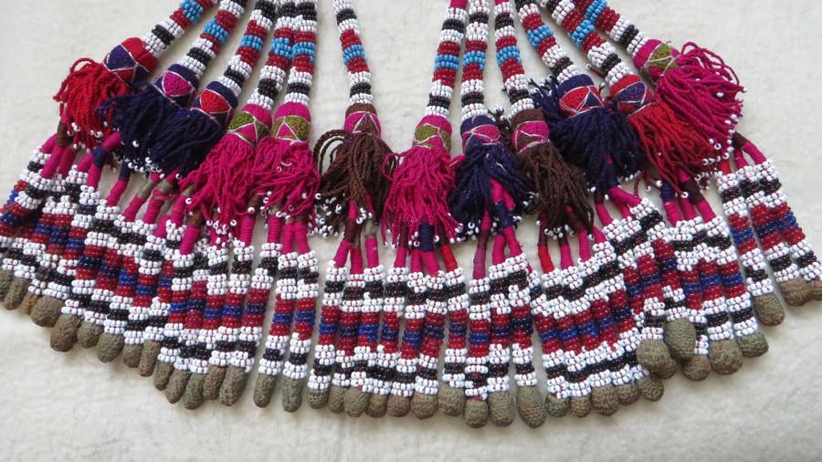 North Afghanistan – Turkmen tribal glass beaded tassels