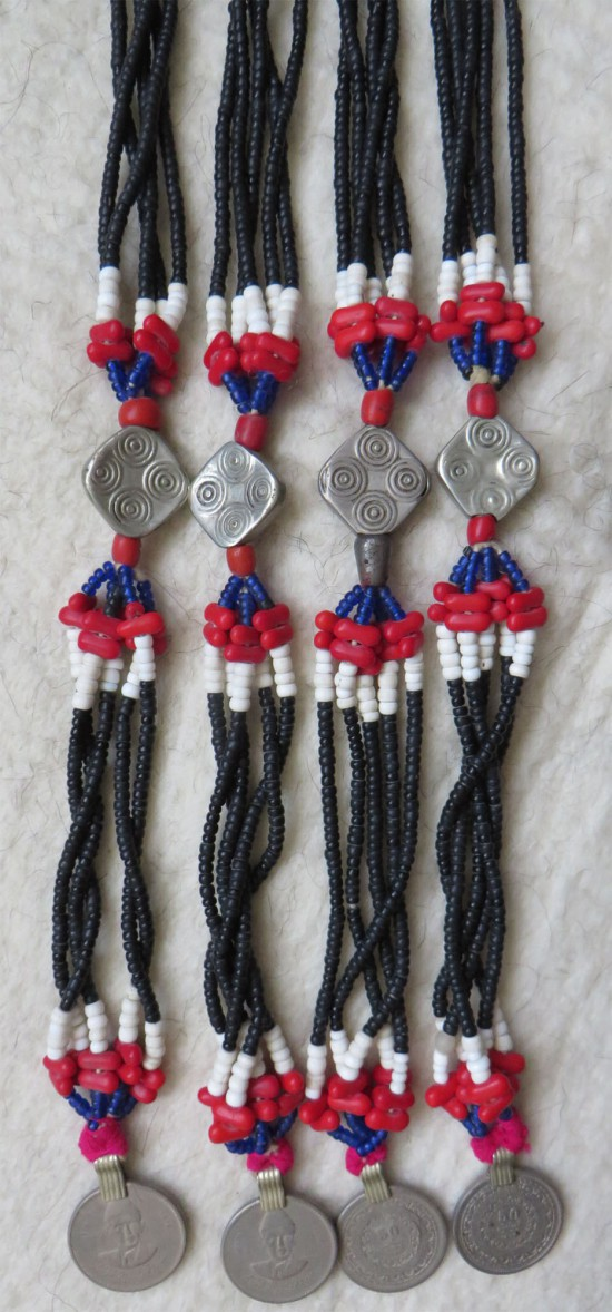 North Afghanistan – Pashtun tribal beaded tassels with silver