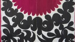 Uzbekistan - Smarkand Suzani silk embroidery on cotton fabric
