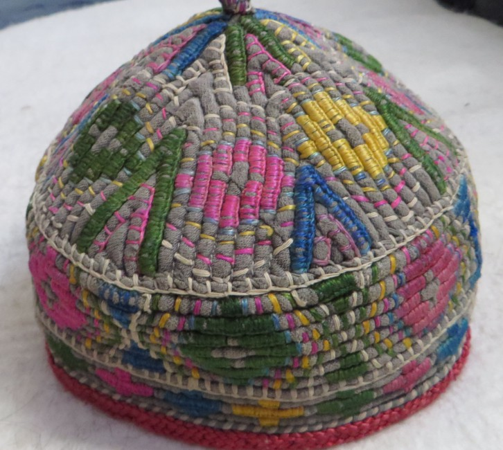 Turkmen child hat from North Afghanistan