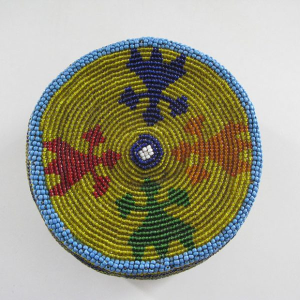Afghan Pashtun tribal hat with trade beads