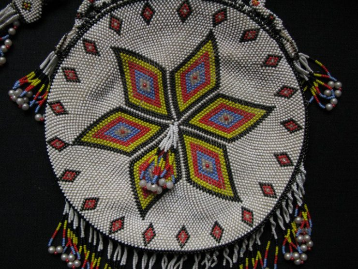 Central Anatolian bag with glass beads