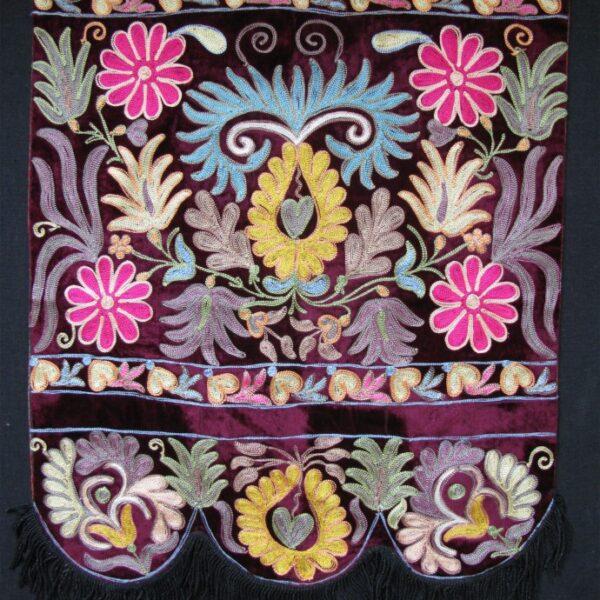 Uzbekistan Tashkent Tatar silk embroidery on velvet
