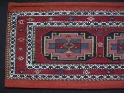 Vintage Caucasus Shahsavan bedding bag panel