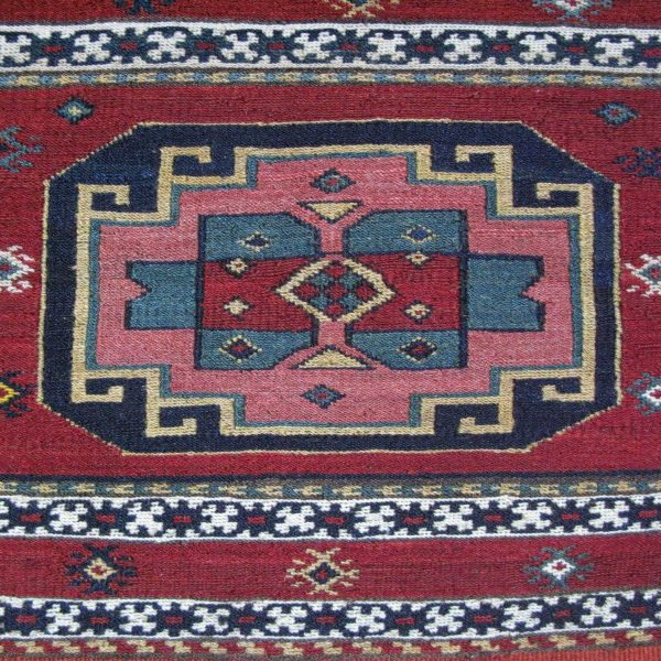 Vintage Caucasus Shahsavan bedding bag panel