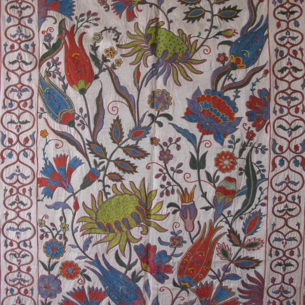 Uzbekistan - Tashkent suzani silk chain stitch embroidery