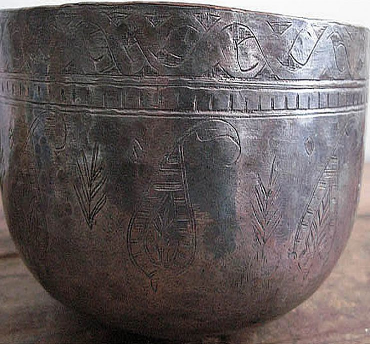 Bosnia tinned antique copper bowl