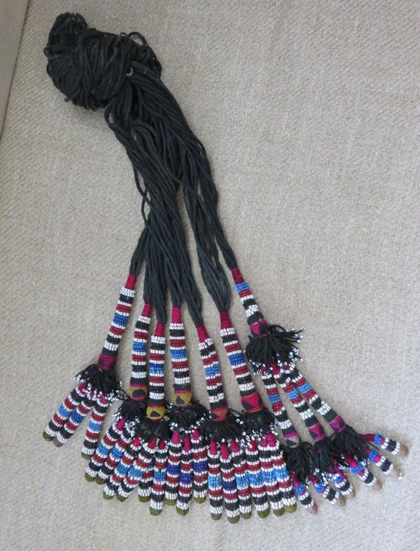 North Afghanistan tribal beaded tassels