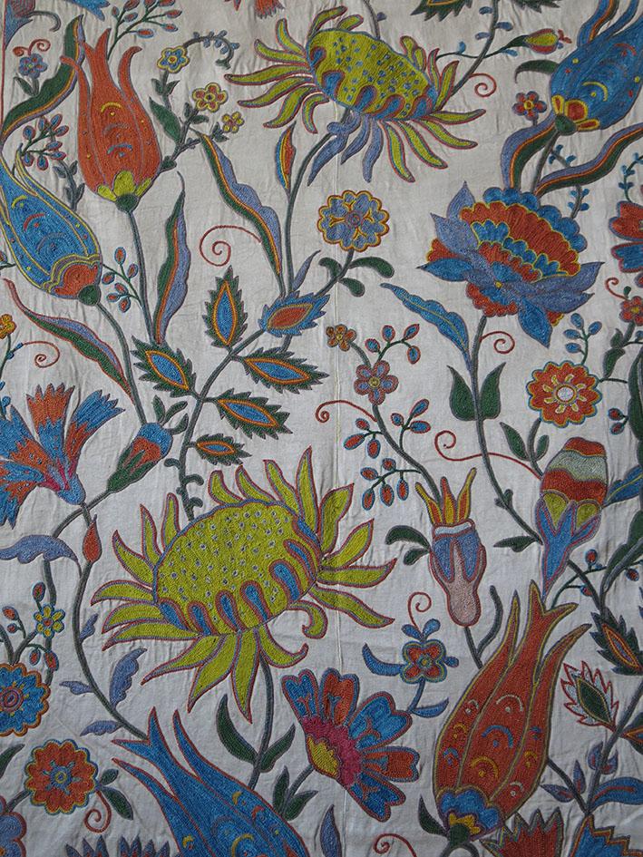Uzbekistan - Tashkent suzani, silk chain stitch embroidery
