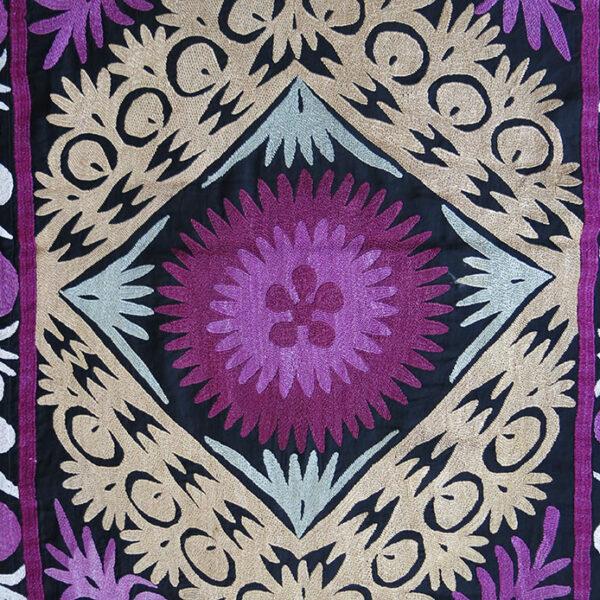 Tajikistan-Ura Teppa, Silk couching embroidery long Suzani