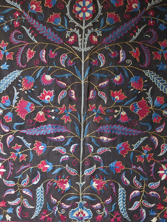 Uzbekistan Fergana Valley handmade silk Suzani