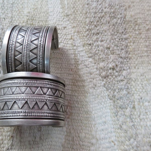 Central Asia, Kazakhstan, high carat silver tribal bracelets