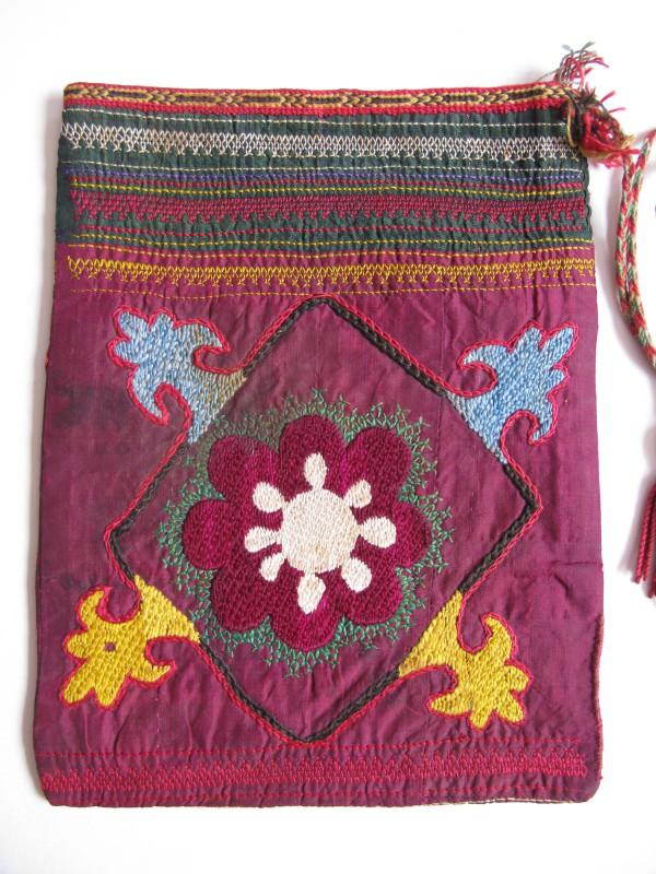 Uzbekistan Surkanderya Vintage LAKAY small vanity bag