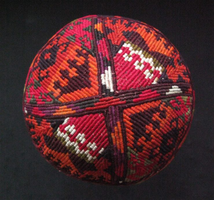 Afghanistan – Aimaq tribal hat with kilim motifs