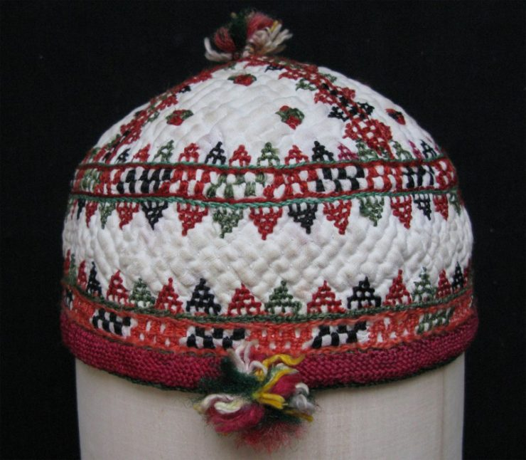 Turkmen Ersary child hat from north Afghanistan