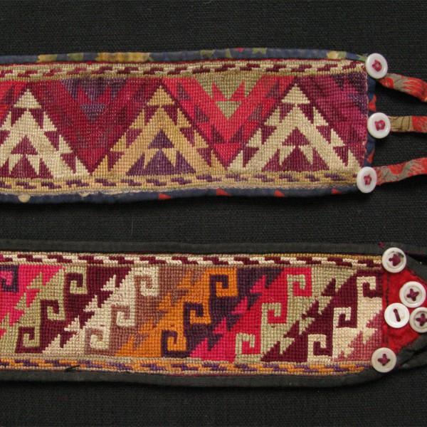 North Afghanistan - vintage pair of LAKAY tribal headbands