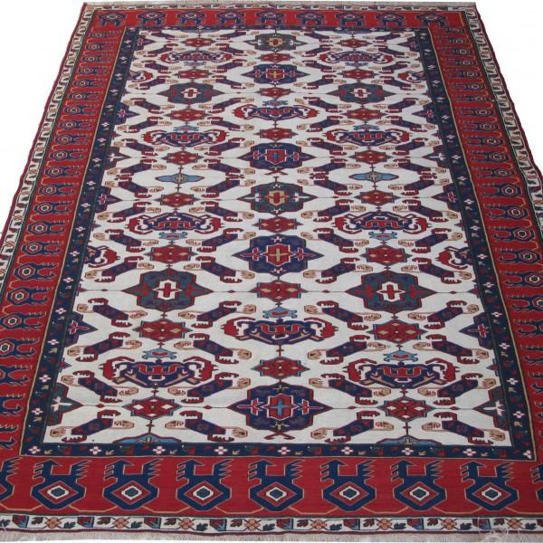 Azerbaijan SHIRVAN Sumak handmade kilim