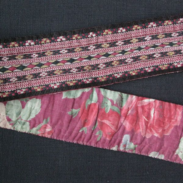 Turkmenistan Tekke belt, silk embroidery