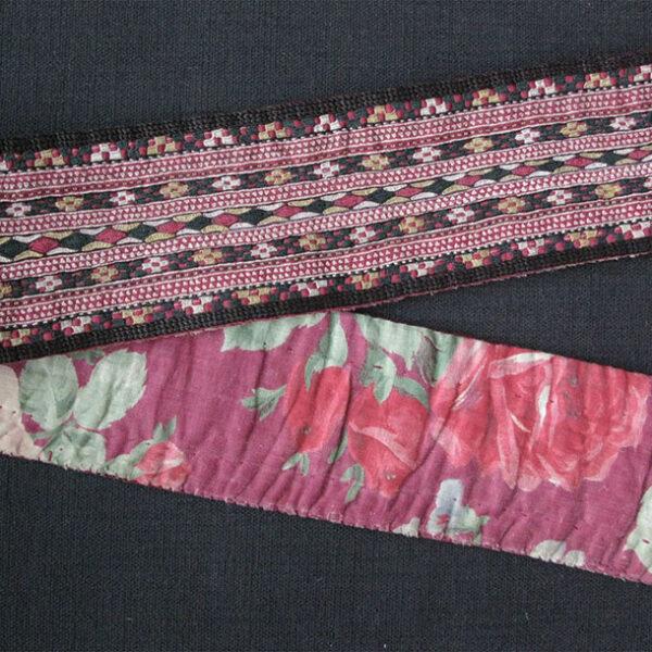 Turkmenistan Tekke belt, silk embroidery