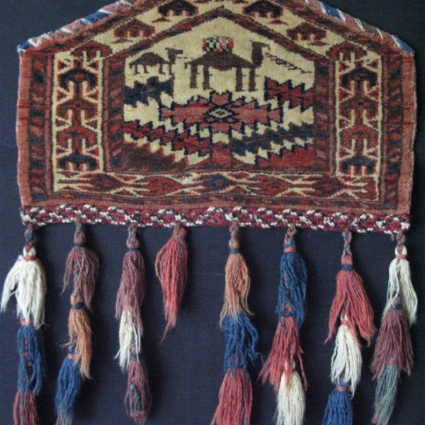 Turkmen tribal handmade camel knee pad for ceremonial use
