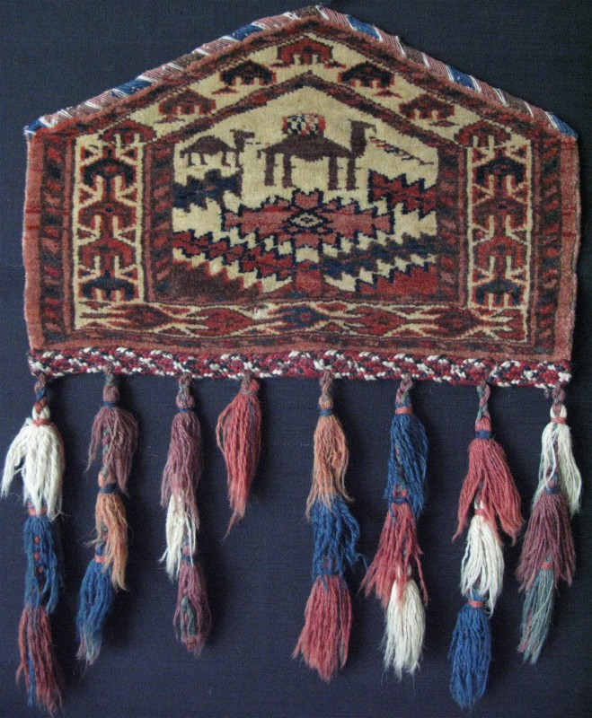 Turkmen tribal handmade camel knee pad for ceremonial use