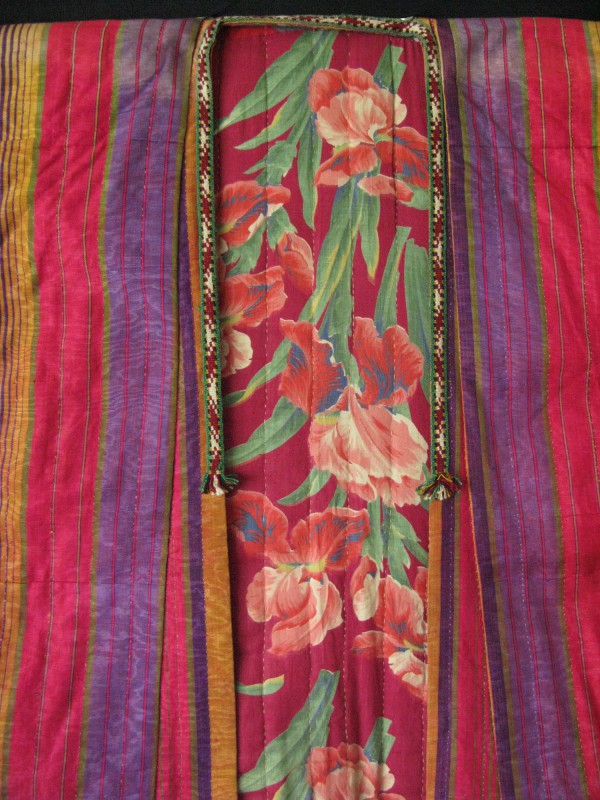 Uzbekistan Silk quilted Chapan - Handmade ikat chapan
