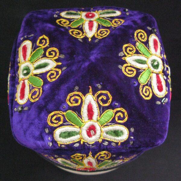 Uzbekistan Bokhara silk velvet handmade hat