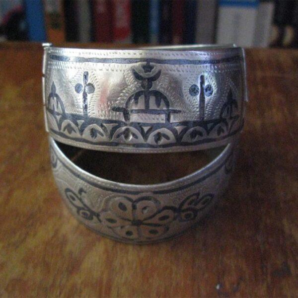 East Anatolian lake Van area niello silver bracelet