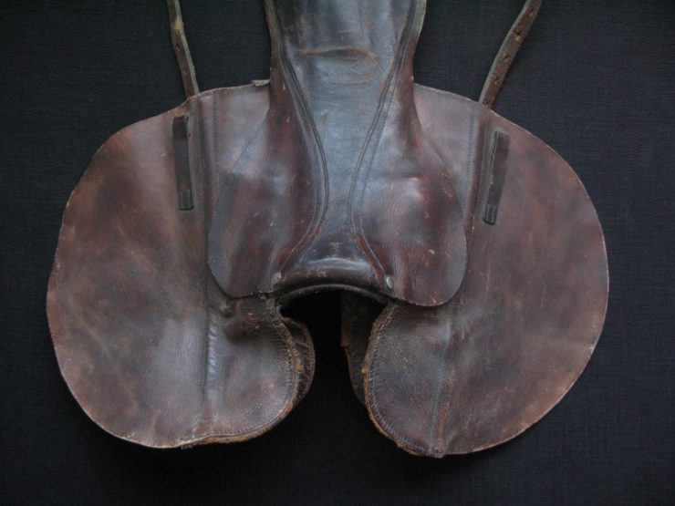 Turkmenistan small leather saddle