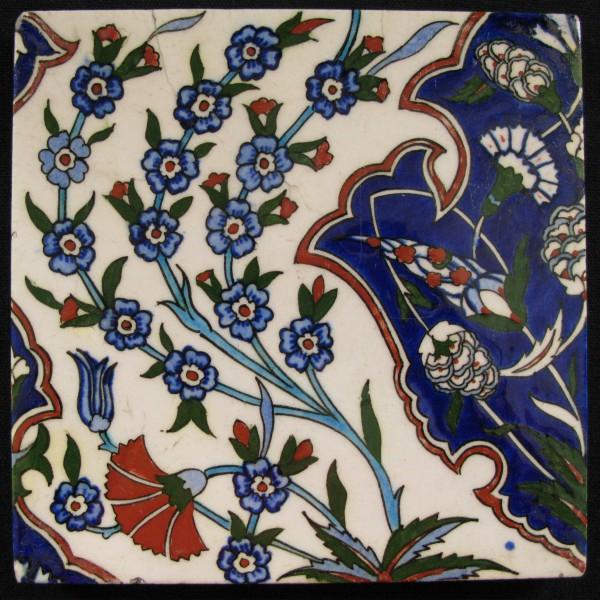 Anatolia Kutahya Pair of Square tiles