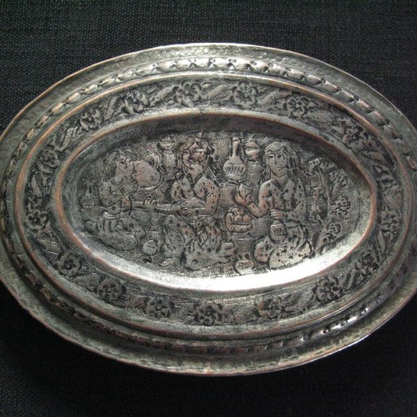 East Anatolian - Woman Turkish bath mirror box