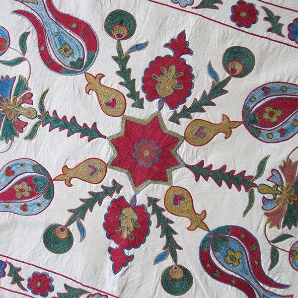 UZBEKISTAN TASHKENT Silk embroidery pillow cover