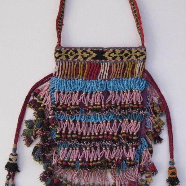 Uzbek LAKAY small ANTIQUE handmade female personal bag