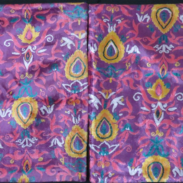 Uzbekistan Surkandarya - Pair of Pillow cases made out of old Velvet