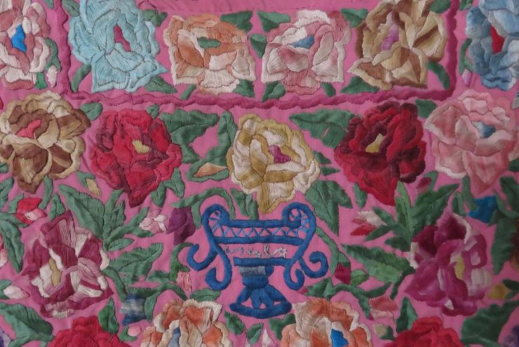 Eastern Europe mercerized cotton couching embroidery