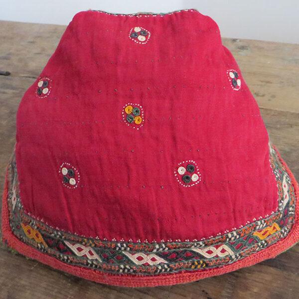 Turkmen Chodor tribal baby headwear