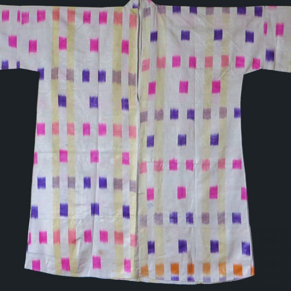 Uzbekistan silk ikat minimalist koynek