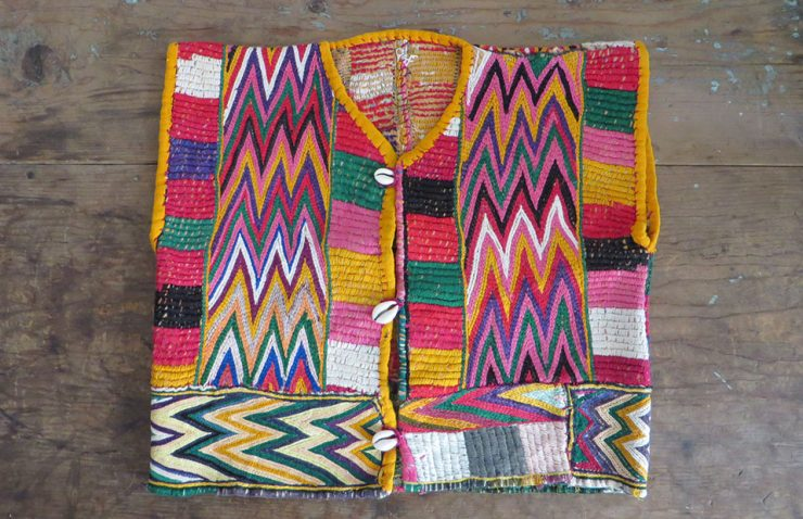 Afghanistan tribal embroidered vintage child vest