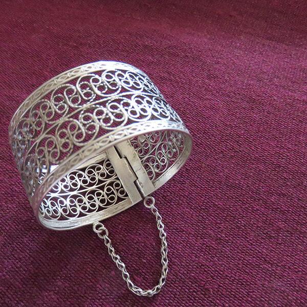 Uzbekistan silver ethnic bracelet