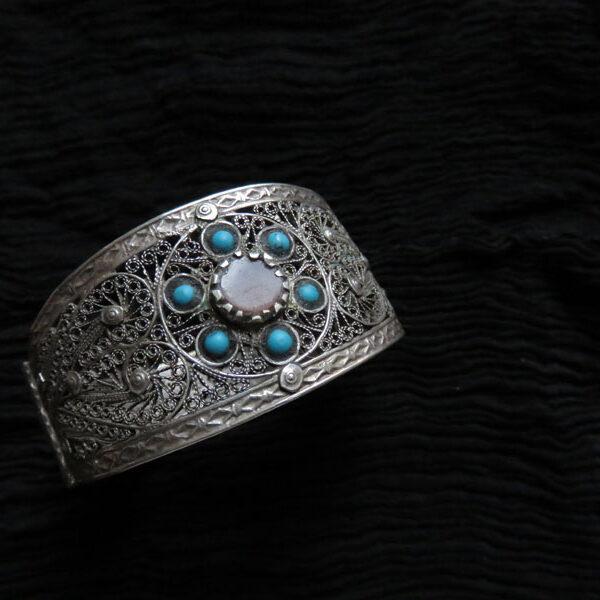 Uzbekistan Khorazm antique silver bracelet