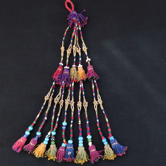 Afghanistan, Kochi tribal silk hair tassels