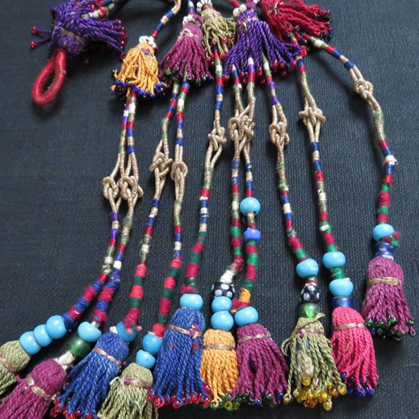 Afghanistan, Kochi tribal silk hair tassels