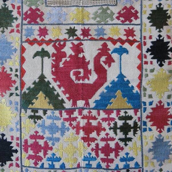TAJIKISTAN – GORNO BADASHKHAN, RUIBAND, Tribal silk embroidered wedding veil