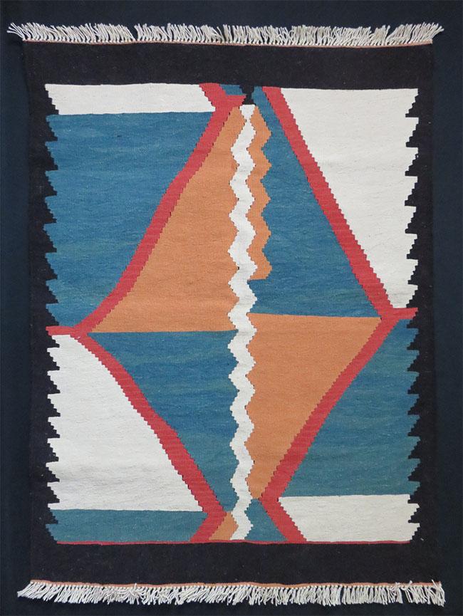 Tajikistan all wool natural dyed kilim