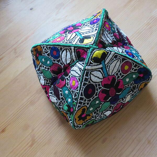Tajikistan - tribal silk embroidery female Chust-style skullcap